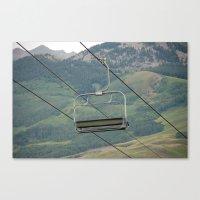 ski Canvas Prints featuring ski by Lexi *