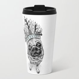 Indian Pug Travel Mug