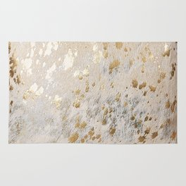 Gold Hide Print Metallic Rug