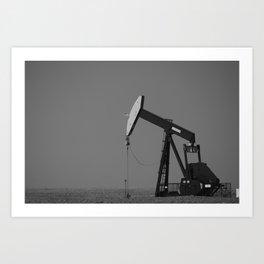 Oil Well Pumper Art Print