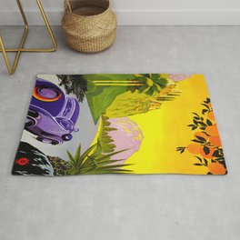 Visit Greece in Auto Travel Rug