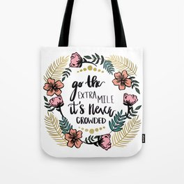 Go The Extra Mile Peach Tote Bag