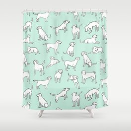 Mint Chocolate Labs Shower Curtain