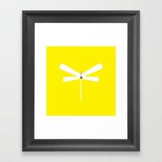 LibelluleMonde Yellow Branding Framed Art Print