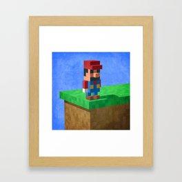 Mario's dilemma Framed Art Print