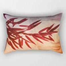 red bamboo Rectangular Pillow