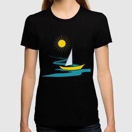 Single sailboat T-shirt
