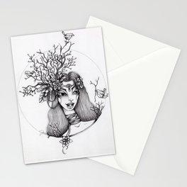JennyMannoArt Graphite Illustration/Giselle the woodland fairy Stationery Cards