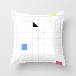 Paradigm in Primary Throw Pillow