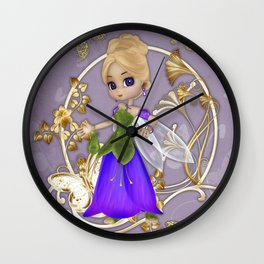 Fairy Princess .. fantasy Wall Clock
