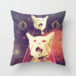 galactic Cats Saga 4 Throw Pillow