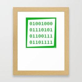 Binary name : Hugo Framed Art Print