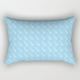 Pastel Blue Peens, Penis Repeat Rectangular Pillow