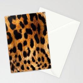 Vegan Leopard Skin Animal Fur Design Stationery Cards
