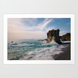 Marina di Maratea - Splashes Art Print