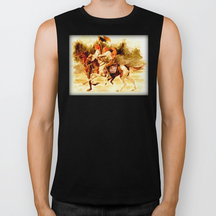 Horses and People No.1 Biker Tank