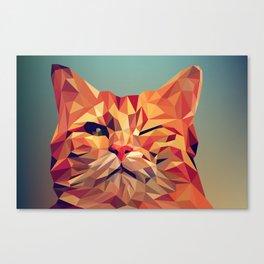 Geometric cat 2 Canvas Print