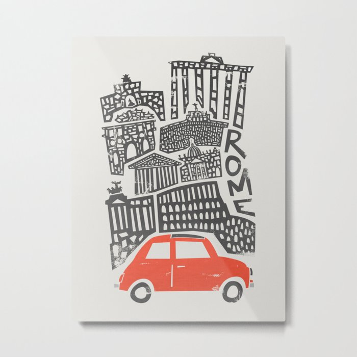 Rome Cityscape Metal Print