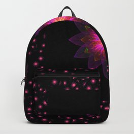 Abstract purple flower 03 Backpack