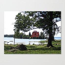 The castle on the island Canvas Print
