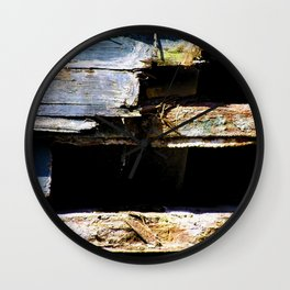 Battered House Boat 2 Wall Clock