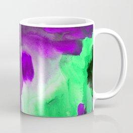 Abstract Window Green and Purple Coffee Mug