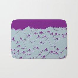 Purple Mountains Bath Mat