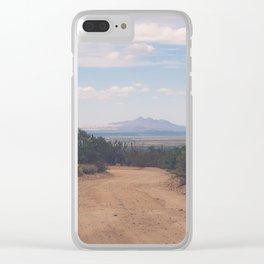 Down Desert Roads Clear iPhone Case