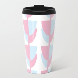 Tulips In Amsterdam - Pink and Blue Travel Mug