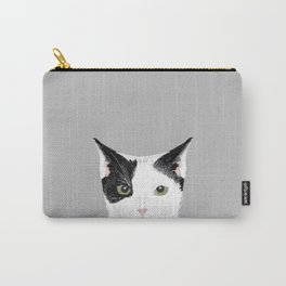 Manny - Black and white cute cat gift cat person cat lady funny cat meme pet portraits customizable  Carry-All Pouch