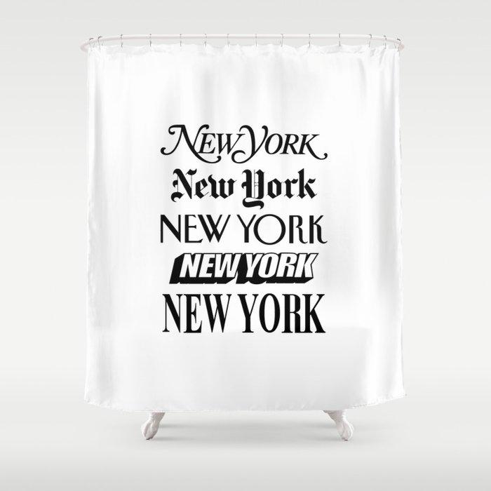 I Heart New York City Black and White New York Poster I Love NYC Design black-white home wall decor Shower Curtain