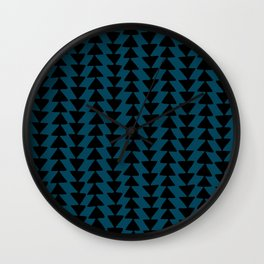 Blue Arrows Wall Clock