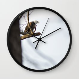 Eagle Hunting for Dinner Wall Clock