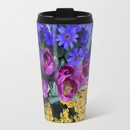Floral Spectacular: Blue, Plum and Gold - Olbrich Botanical Gardens Spring Flower Show, Madison, WI Travel Mug