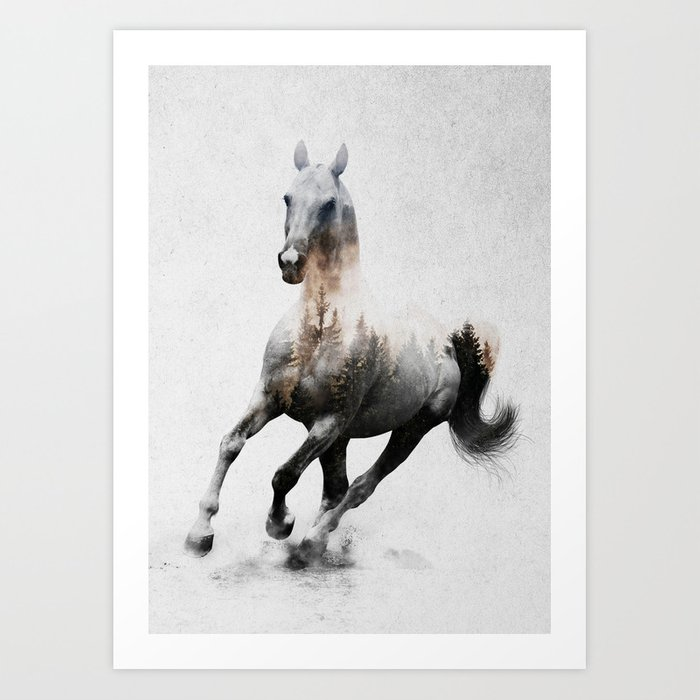 Discover the motif GALLOPING HORSE by Andreas Lie as a print at TOPPOSTER