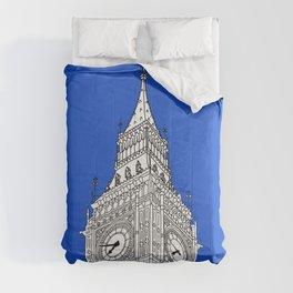 London Big Ben - Line Art Comforters