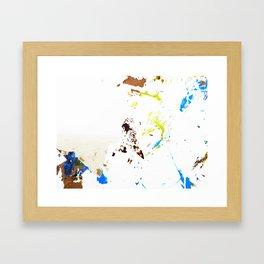 Tres splatter  Framed Art Print