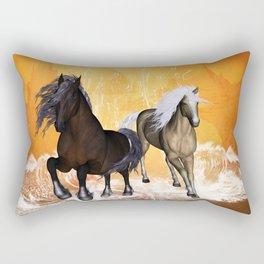 Fantastic horses Rectangular Pillow