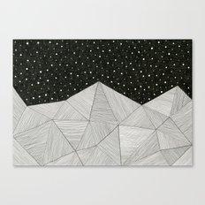 Stripe Mountains Canvas Print