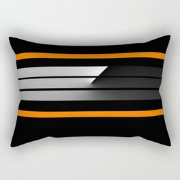 TEAM COLORS 5...Black , orange Rectangular Pillow