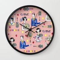 tennis Wall Clocks featuring tennis by Hui_Yuan-Chang