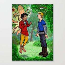 Knight meets Fairy Canvas Print