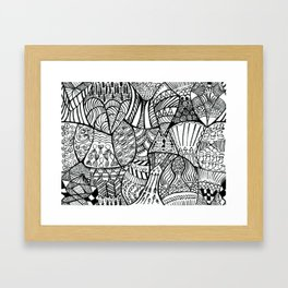 Pile of Fish Framed Art Print