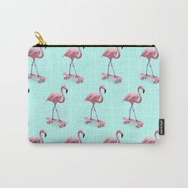 Skating Flamingo Carry-All Pouch