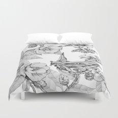 Moths & Camellias Duvet Cover