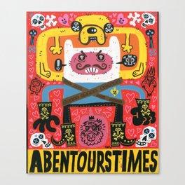 Las Aventuras de Pen Canvas Print