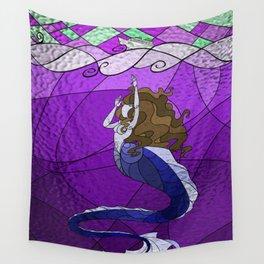 Primeval Mermaid (purple) Wall Tapestry