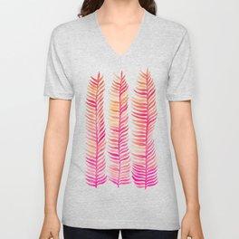 Pink Ombré Seaweed Unisex V-Neck