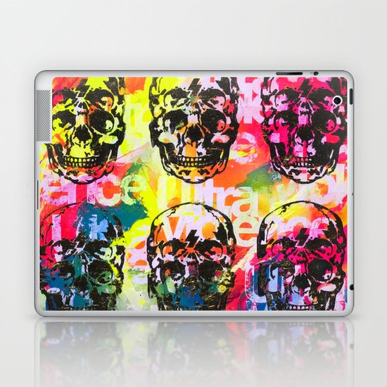 Ultraviolence 4i skull - mixed media on canvas Laptop & iPad Skin