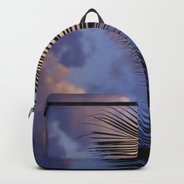 Palm Leaves Touching The Clouds Upshot Art Photo Backpack